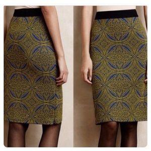 Anthropologie Maeve Medallion Skirt